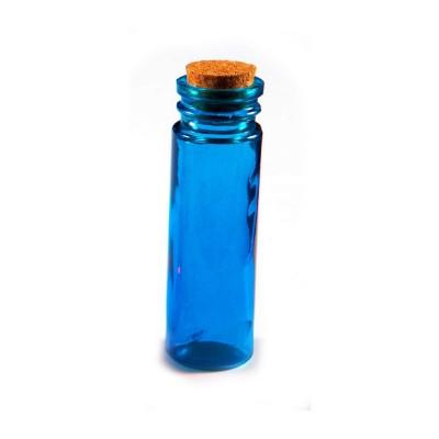 Tube en verre de couleur turquoise