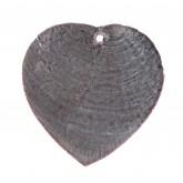 Nacres colorées forme cœur (x6) noir