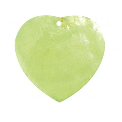 Nacres colorées forme cœur (x6) vert anis