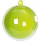 Boule transparente de couleur vert anis