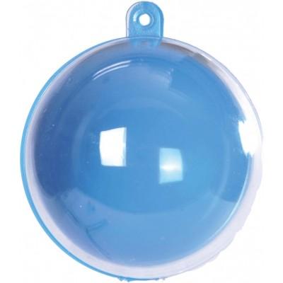 Boule transparente de couleur turquoise