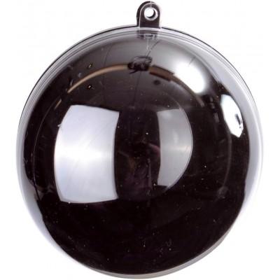 Boule transparente de couleur noir