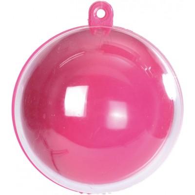 Boule transparente de couleur fuchsia