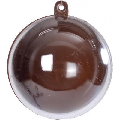 Boule transparente de couleur chocolat