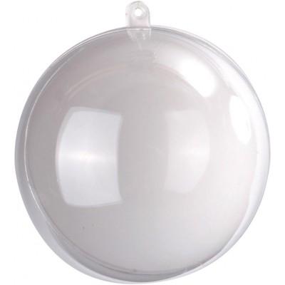 Boule transparente de couleur blanc