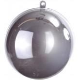 Boule transparente de couleur argent