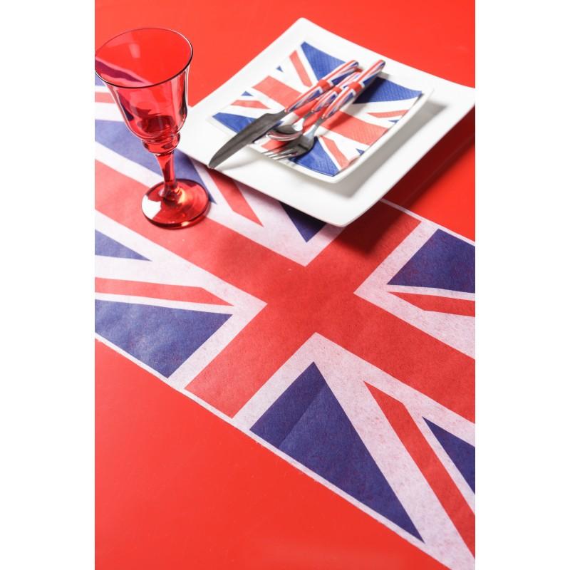 Chemin de table drapeau d 39 angleterre for Set de table anglais