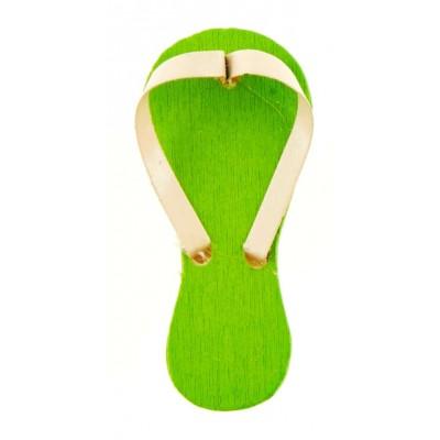 Tongs sur pince (x6) vert anis