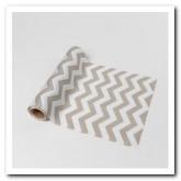 Chemin de table chevron gris en tissu