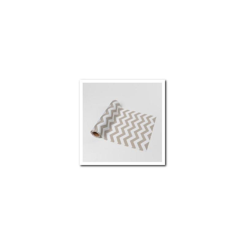 Chemin de table chevron gris en tissu - Chemin de table en tissu ...