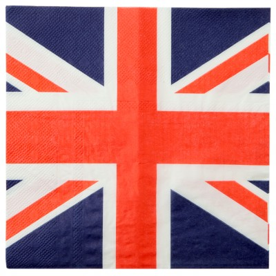 Serviettes drapeau Angleterre (x20)