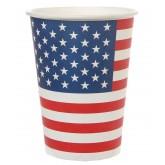 Gobelets drapeau USA (x10)