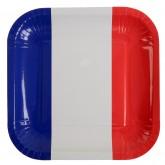 Assiettes drapeau Français (x10)