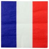 Serviettes drapeau Français (x20)