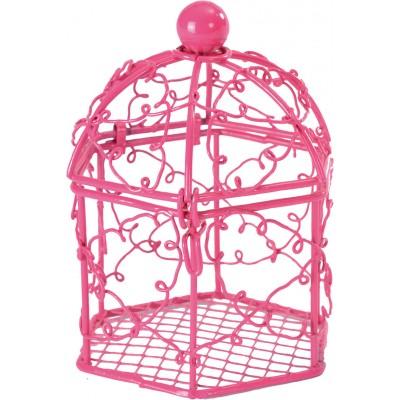 Cages à oiseaux fuchsia (x2)