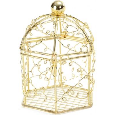 Cages à oiseaux or (x2)