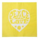 Serviette Hippie jaune (x20)