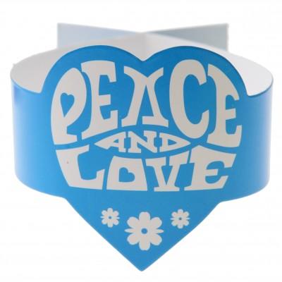 Rond de serviette Hippie turquoise (x6)