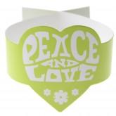 Rond de serviette Hippie vert (x6)