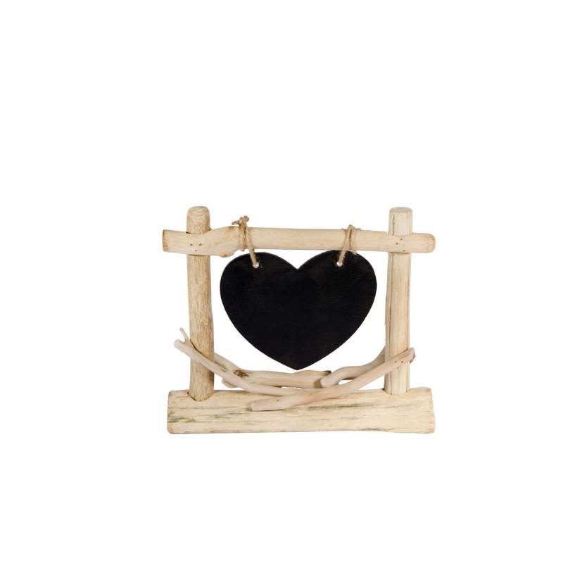 Ardoise d co coeur et bois for Set de table ardoise