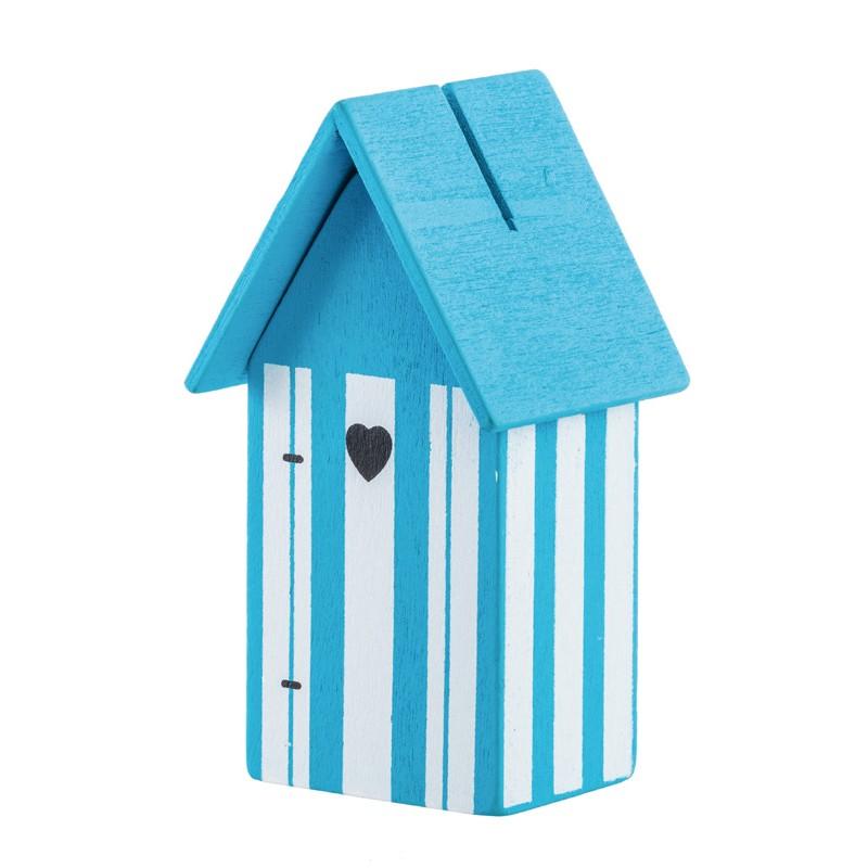 Cabines de plage d co x2 turquoise for Cabane de plage bois
