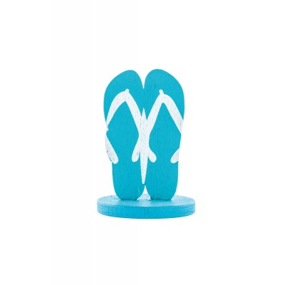 Marque-place tongs turquoise (x4)