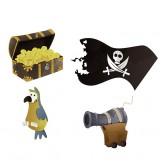 Confettis pirates en bois (x16)
