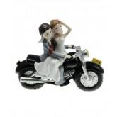 Figurine mariés avec moto