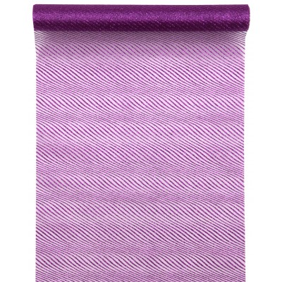 Chemin de table twill violine
