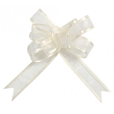 Mini noeuds ivoire (x5)