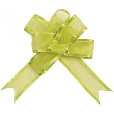 Mini noeuds vert anis (x5)