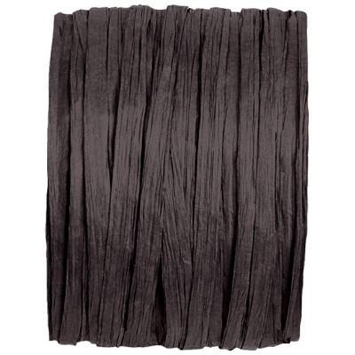 Raphia papier noir