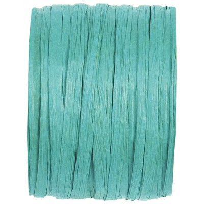 Raphia papier turquoise