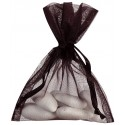 Sacs en organdi noir (x10)
