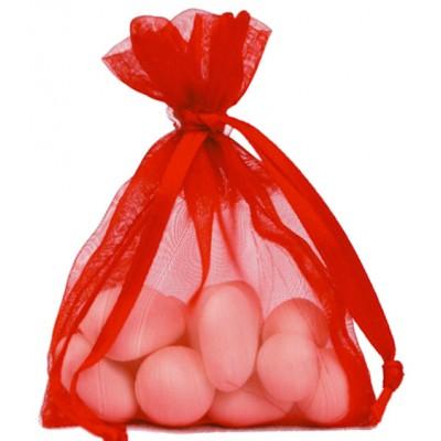 Sacs en organdi rouge (x10)