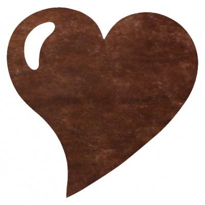 Sets de table coeur en non tissé chocolat (x50)