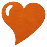 Sets de table coeur en non tissé orange (x50)