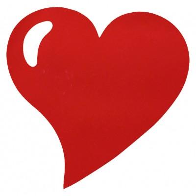 Sets de table coeur en non tissé rouge (x50)