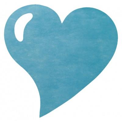 Sets de table coeur en non tissé turquoise (x50)