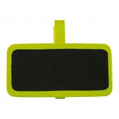 Porte noms ardoises vert anis (x12)