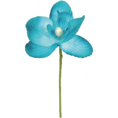Mini orchidées de couleur (x6) turquoise