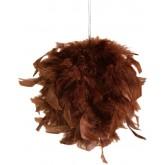 Boule plumes à suspendre chocolat