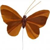 Papillons unis sur tige (x6) chocolat