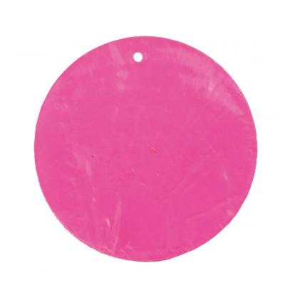 Nacres rondes colorées (x6) fuchsia
