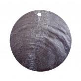 Nacres rondes colorées (x6) noir