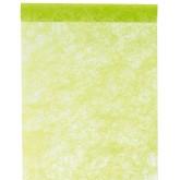 Chemin de table intissé uni vert anis