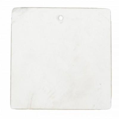 Nacres carrées naturelles blanc (x6)