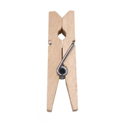 Mini pinces en bois peint naturel (x24)