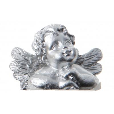 Anges marque-places (x4) argent