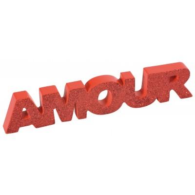 Mot Amour pailleté rouge